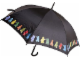 Gear No: 853136  Name: Umbrella, Black with Minifigures Pattern