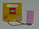 Gear No: 853249  Name: 2 x 4 Brick - Bright Pink Key Chain with String