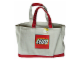 Gear No: 853261  Name: Tote Bag, Lego Logo Pattern, Red Handles and Bottom (100% Cotton)