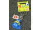 Gear No: 853356  Name: Spongebob Super Hero Key Chain with Lego Logo Tile, Modified 3 x 2 Curved with Hole