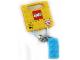 Gear No: 853380  Name: 2 x 4 Brick - Medium Azure Key Chain
