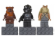 Gear No: 853414  Name: Magnet Set, Minifigures SW (3) - Wicket, V-Wing Pilot, Jar Jar Binks - Glued with 2 x 4 Brick Bases blister pack
