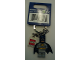 Gear No: 853429a  Name: Batman, Light Bluish Gray Suit Key Chain with Lego Logo Tile, Modified 3 x 2 Curved with Hole (Light Bluish Gray Hips)