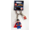 Gear No: 853430  Name: Superman Key Chain with Lego Logo Tile, Modified 3 x 2 Curved with Hole