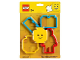 Gear No: 853890  Name: Food - Cookie Cutters, Bricks, Head and Minifigure blister pack