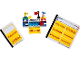Gear No: 854013  Name: Magnet Flat, LEGOLAND Buildable Magnet blister pack