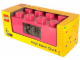 Gear No: 9002175  Name: Alarm Clock, Brick 2 x 4 - Pink