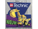 Gear No: 921249NL  Name: Display Sign Hanging, Technic Sets 8862 Backhoe and 8835 Forklift, Double-Sided