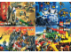 Gear No: 924004  Name: Postcard - Various Theme Postcards, Sheet of 4 - Town, Aquazone, Castle