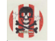Gear No: 924522A  Name: Tattoo (Temporary Body Print), Pirate Skull and Crossbones over Flag Pattern
