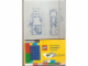 Gear No: 9788866130087  Name: Notebook, Ruled, Large Minifigure Blueprints Pattern (Moleskine) with Stickers