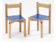Gear No: 9818  Name: Chairs for Multi-Table (medium blue top)