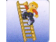 Gear No: DPLC18  Name: Duplo Picture Lottery Game Card, Construction Worker on Ladder
