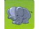 Gear No: DPLC24  Name: Duplo Picture Lottery Game Card, Zoo Elephant Baby