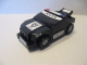 Gear No: GMRacer6  Name: General Mills Racer Car 6 - Black on Black on Dark Gray - Knobby Wheels Police Car