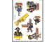 Gear No: Gstk008b  Name: Sticker, Legoland Billund and Movie 'Valiant' images, 7 on 15cm x 21cm sheet
