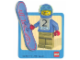 Gear No: Gstk017  Name: Sticker, Minifigure Snowboarder
