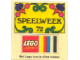Gear No: Gstk115  Name: Sticker Sheet, SPEELWEEK 72 LEGO System