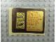 Gear No: Gstk136  Name: Sticker Sheet, Golden Bricks Promotion Golden Studs 74 - Sheet of 2