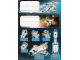 Gear No: Gstk145  Name: Sticker, City Space Shuttle - Sheet of 8 Stickers