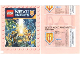 Gear No: Gstk195  Name: Sticker, Nexo Knights Promotional Packet of 5 (for Nexo Knights Sticker Album)