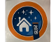 Gear No: Gstk221  Name: Sticker, House with Stars