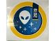 Gear No: Gstk222  Name: Sticker Sheet, Alien Head and Stars
