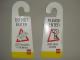 Gear No: Hanger  Name: Door Hanger (Cardboard) Double-Sided, PLEASE ENTER LEGO ideas needed / DO NOT ENTER LEGO creation in progress