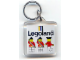 Gear No: KC001  Name: Legoland Ambassadors Both Sides on 5 x 5 Clear Plastic - Square Key Chain (Old Style- No Extra Links)