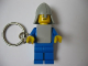 Gear No: KC007  Name: Classic Knight Blue Key Chain - Glued Arms, Chain Attached to Right Wrist