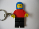 Gear No: KC009  Name: Race Car Driver Plain Red Torso Key Chain - Glued Arms, Chain Attached to Right Wrist