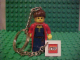 Gear No: KC027  Name: Maiden Key Chain with 2 x 2 Square Lego Logo Tile