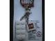 Gear No: KC030  Name: 2 x 4 Brick - White Key Chain with 2 x 2 Square Lego Logo Tile