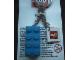 Gear No: KC031  Name: 2 x 4 Brick - Blue Key Chain with 2 x 2 Square Lego Logo Tile