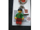 Gear No: KC036  Name: Jing Lee the Wanderer Key Chain with 2 x 2 Square Lego Logo Tile