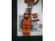 Gear No: KC041  Name: Red Racer Key Chain with 2 x 2 Square Lego Logo Tile