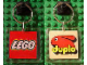 Gear No: KC092  Name: Lego Logo / Duplo on 5 x 5 Clear Plastic - Square Key Chain