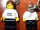 Gear No: KC131  Name: Town Key Chain - White Torso and Black Legs, Brown Female Hair - Birkenhead Point Sydney