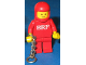 Gear No: KC132  Name: BRF Male Red Torso Red Legs Red Helmet Key Chain