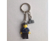 Gear No: KC148  Name: Police Officer City Dark Blue Shirt with Badge and Radio Key Chain with Dark Gray Hinge Plate 1 x 2 Locking with 1 Finger on Side with Bottom Groove