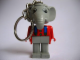 Gear No: KCF02  Name: Elephant 3 Key Chain - Twisted Metal Chain, no LEGO logo on back