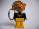 Gear No: KCF09  Name: Lion with Necklace and white eyes Key Chain - Twisted Metal Chain, no LEGO logo on back