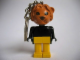Gear No: KCF10  Name: Lion with black eyes Key Chain - Twisted Metal Chain, no LEGO logo on back