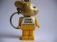 Gear No: KCF17  Name: Bunny 3 Key Chain - Twisted Metal Chain, LEGO centre / Birkenhead Point Sydney pattern on torso