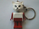 Gear No: KCF20  Name: Cat 3 Key Chain - older metal chain, no LEGO logo on back
