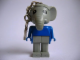 Gear No: KCF26  Name: Elephant 1 Key Chain - Straight Metal Chain, no LEGO logo on back