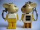 Gear No: KCF27  Name: Bunny 3 Key Chain - Twisted Metal Chain, black LEGO logo on back