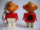 Gear No: KCF30  Name: Monkey 2 Key Chain - Twisted Metal Chain, black LEGO logo on back
