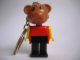 Gear No: KCF34  Name: Bear Key Chain - older metal chain, no LEGO logo on back