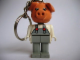 Gear No: KCF38  Name: Pig 7 Key Chain - newer metal chain, red LEGO logo on back